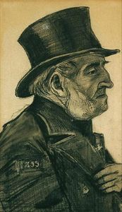 Vincent Van Gogh - An Almshouse Man in a Top Hat