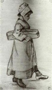 Vincent Van Gogh - Girl Carrying a Loaf of Bread