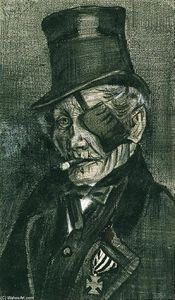 Vincent Van Gogh - Orphan Man in Sunday Clothes with Eye Bandage