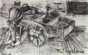 Vincent Van Gogh - Two Boys near a Cart