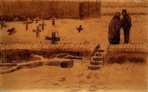 Vincent Van Gogh - Churchyard in Winter
