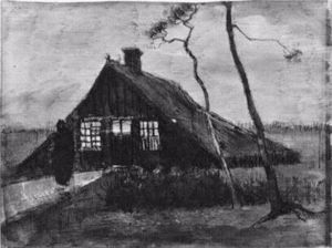 Vincent Van Gogh - Farmhouse at Night