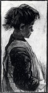 Vincent Van Gogh - Girl with Pinafore, Half-Figure