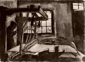 Vincent Van Gogh - Interior with a Weaver Facing Right