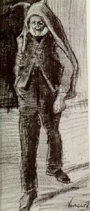 Vincent Van Gogh - Orphan Man with Pickax on his Shoulder