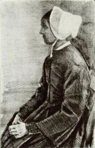 Vincent Van Gogh - Woman with White Bonnet, Sien-s Mother