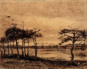 Vincent Van Gogh - Pine Trees in the Fen