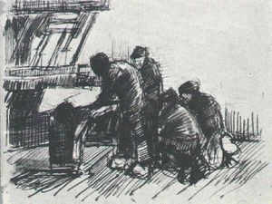 Vincent Van Gogh - Weaver with Other Figures in Front of Loom