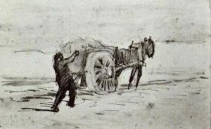 Vincent Van Gogh - Man Loading a Cart