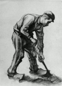 Vincent Van Gogh - Peasant Boy, Digging