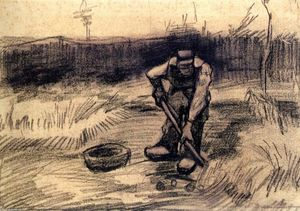 Vincent Van Gogh - Peasant Lifting Potatoes