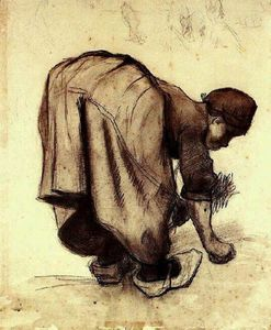 Vincent Van Gogh - Peasant Woman Bending Over