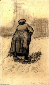 Vincent Van Gogh - Peasant Woman Lifting Potatoes