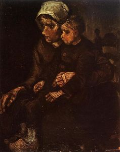 Vincent Van Gogh - Peasant Woman with a Child in Her Lap