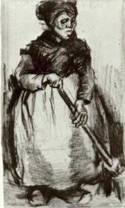 Vincent Van Gogh - Peasant Woman with Broom