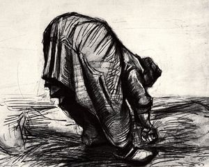 Vincent Van Gogh - Peasant Woman, Stooping, Seen from the Back