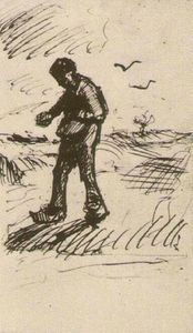 Vincent Van Gogh - Sower Facing Left