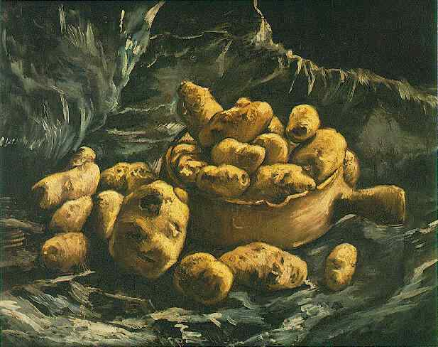 Still life with an Earthern bowl and potatoes, 1885 by Vincent Van Gogh (1853-1890, Netherlands) | Reproductions Vincent Van Gogh | WahooArt.com