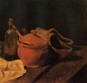Vincent Van Gogh - Still Life with Earthenware, Bottle and Clogs