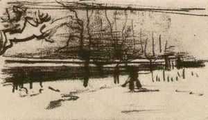 Vincent Van Gogh - The Parsonage Garden in the Snow