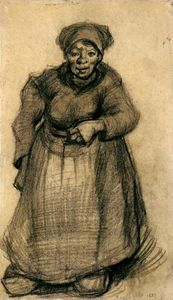 Vincent Van Gogh - Woman with Her Left Arm Raised