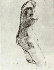 Vincent Van Gogh - Plaster Torso of a Woman, Seen from the Side