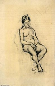 Vincent Van Gogh - Seated Female Nude
