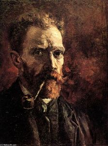 Vincent Van Gogh - Self-Portrait with Pipe