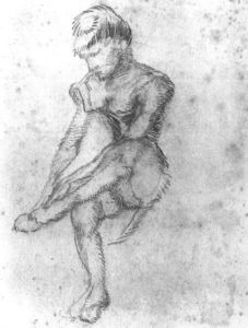 Vincent Van Gogh - Sketch of a Seated Woman