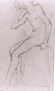 Vincent Van Gogh - Seated Nude after Bargues