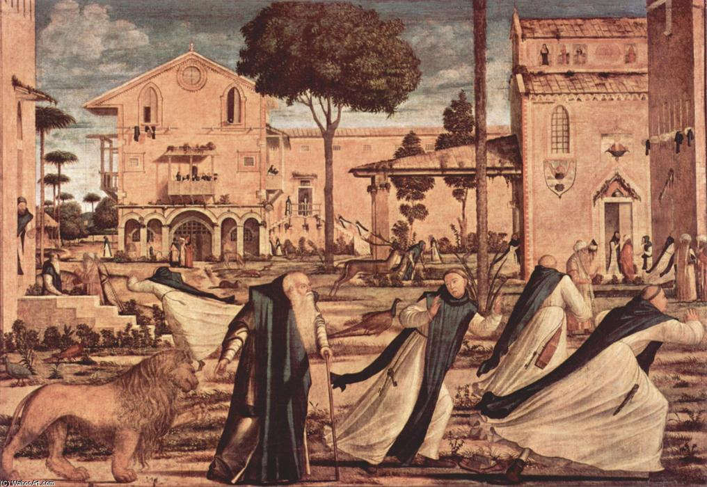 St. Jerome and Lion in the Monastery, Oil On Canvas by Vittore Carpaccio (1465-1526, Italy)