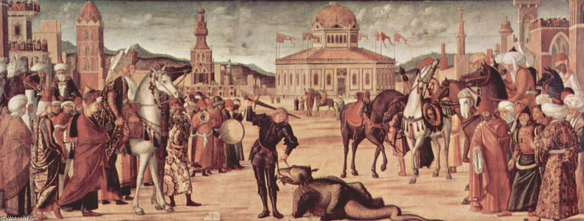 The Triumph of St. George, Oil On Canvas by Vittore Carpaccio (1465-1526, Italy)