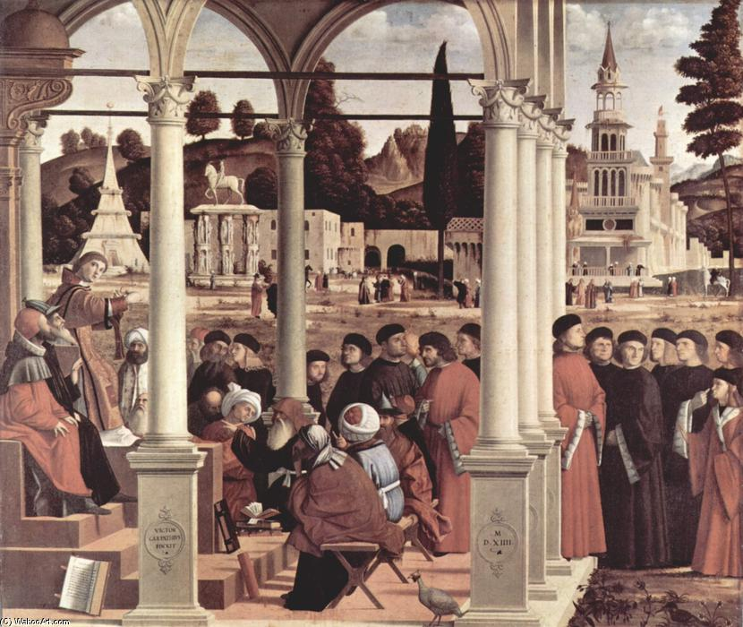 Debate of St. Stephen, Oil On Canvas by Vittore Carpaccio (1465-1526, Italy)