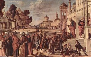 Order Oil Painting : St. Stephen is Consecrated Deacon, 1514 by Vittore Carpaccio (1465-1526, Italy) | WahooArt.com