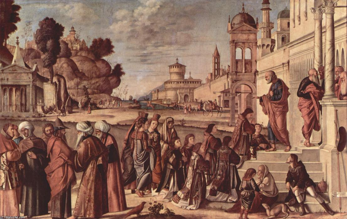St. Stephen is Consecrated Deacon, 1514 by Vittore Carpaccio (1465-1526, Italy) | Oil Painting | WahooArt.com
