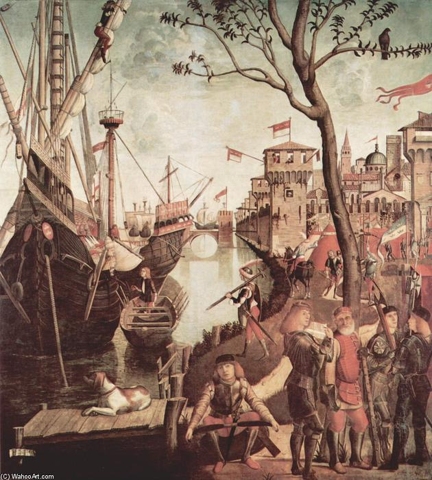 Arrival of St.Ursula during the Siege of Cologne, Oil On Canvas by Vittore Carpaccio (1465-1526, Italy)