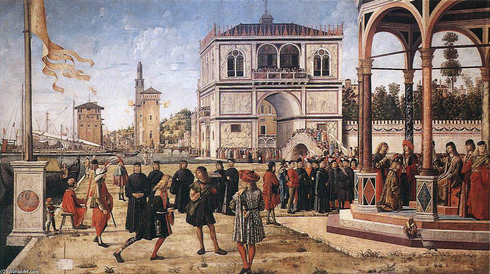 The Repatriation of the English Ambassadors, Oil On Canvas by Vittore Carpaccio (1465-1526, Italy)