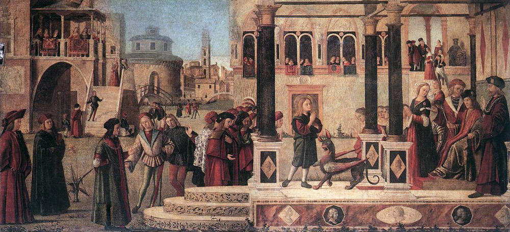 The Miracle of St. Tryphonius, 1507 by Vittore Carpaccio (1465-1526, Italy) | Oil Painting | WahooArt.com