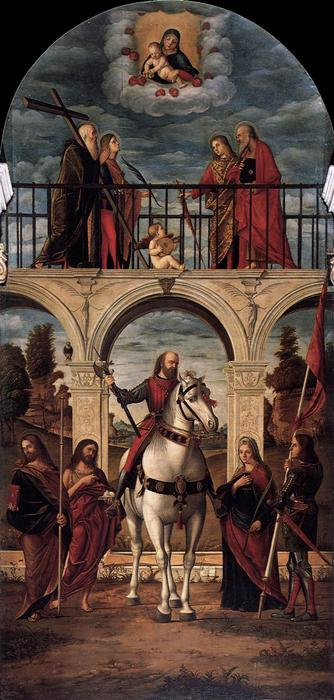 The Glory of St. Vidal, 1514 by Vittore Carpaccio (1465-1526, Italy) | Museum Quality Reproductions | WahooArt.com