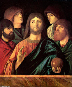 Vittore Carpaccio - Saviour blesses the four apostles