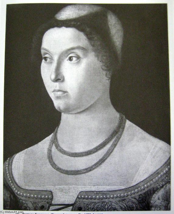 Portrait of a lady, 1485 by Vittore Carpaccio (1465-1526, Italy) | Museum Quality Reproductions | WahooArt.com