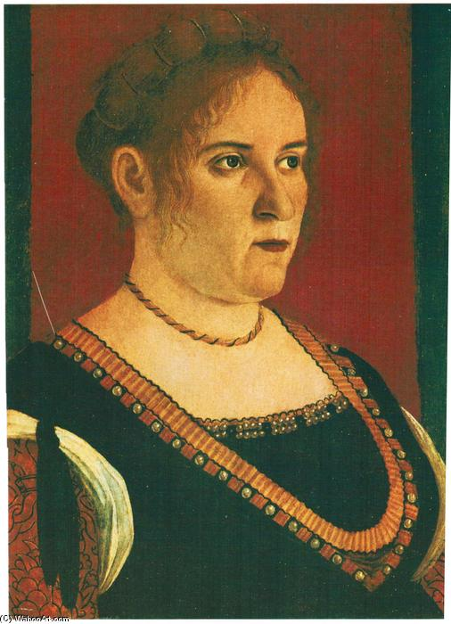 Portrait of a lady, 1495 by Vittore Carpaccio (1465-1526, Italy) | Painting Copy | WahooArt.com