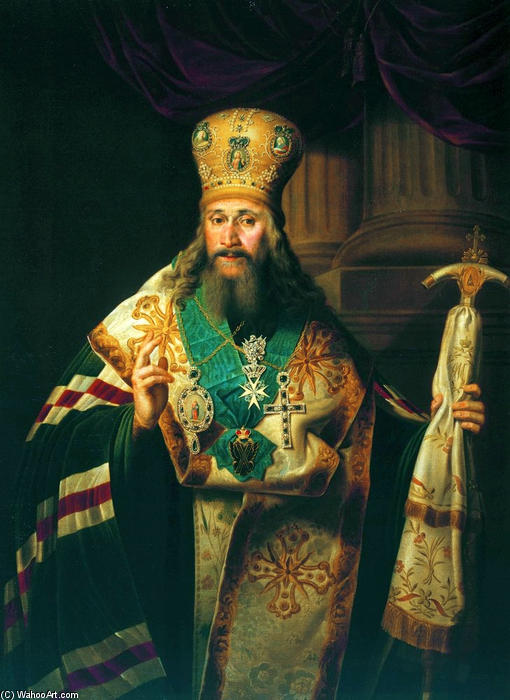Bishop of the Russian Orthodox Church by Vladimir Lukich Borovikovsky (1757-1825) | Museum Quality Reproductions | WahooArt.com