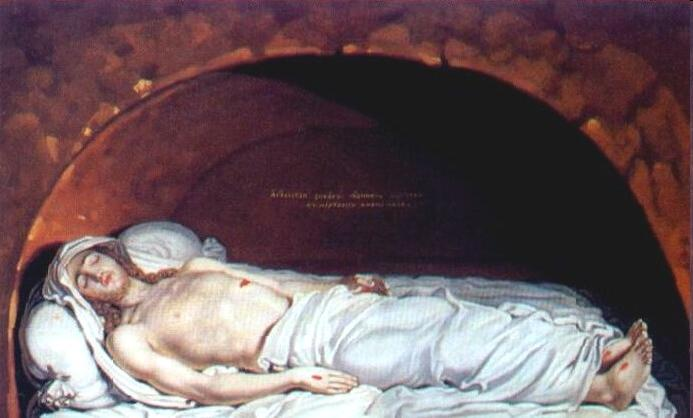 Jesus at the tomb by Vladimir Lukich Borovikovsky (1757-1825) | Art Reproduction | WahooArt.com