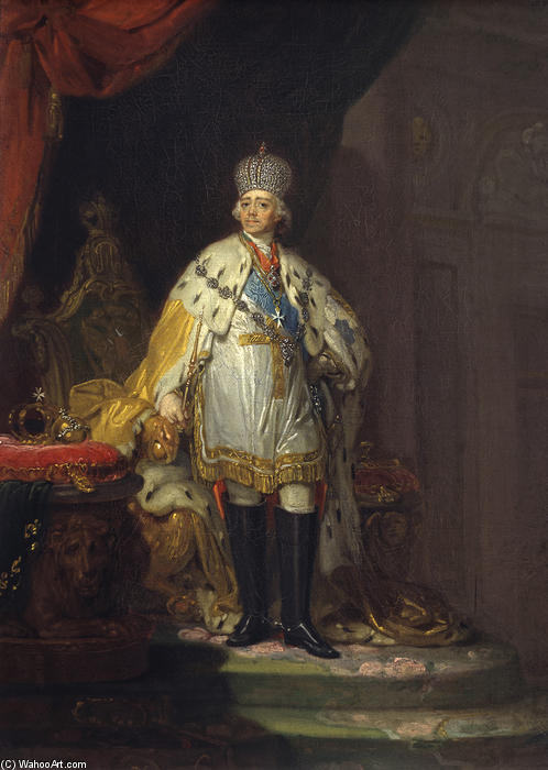 Portrait of Emperor Paul I, Oil On Canvas by Vladimir Lukich Borovikovsky (1757-1825)