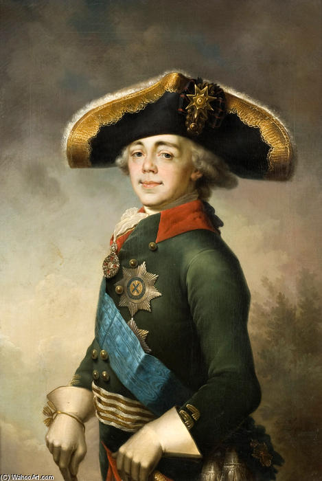 Portrait of Paul I, 1796 by Vladimir Lukich Borovikovsky (1757-1825) | Museum Quality Reproductions | WahooArt.com