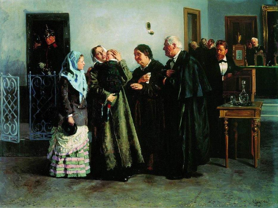 Verdict, 1882 by Vladimir Yegorovich Makovsky (1846-1920, Russia) | Museum Quality Reproductions | WahooArt.com