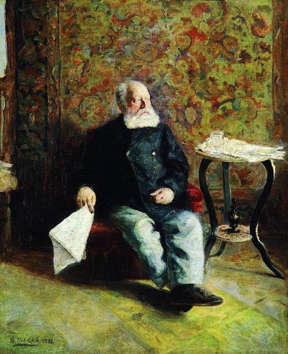 At the porter`s room, 1893 by Vladimir Yegorovich Makovsky (1846-1920, Russia) | Oil Painting | WahooArt.com
