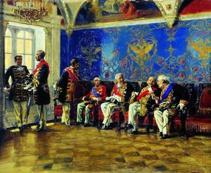 Vladimir Yegorovich Makovsky - Waiting for an Audience
