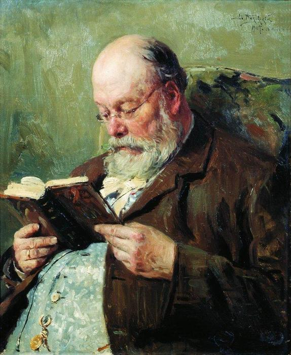 Portrait of academician Ivan Yanzhul, 1907 by Vladimir Yegorovich Makovsky (1846-1920, Russia) | Reproductions Vladimir Yegorovich Makovsky | WahooArt.com